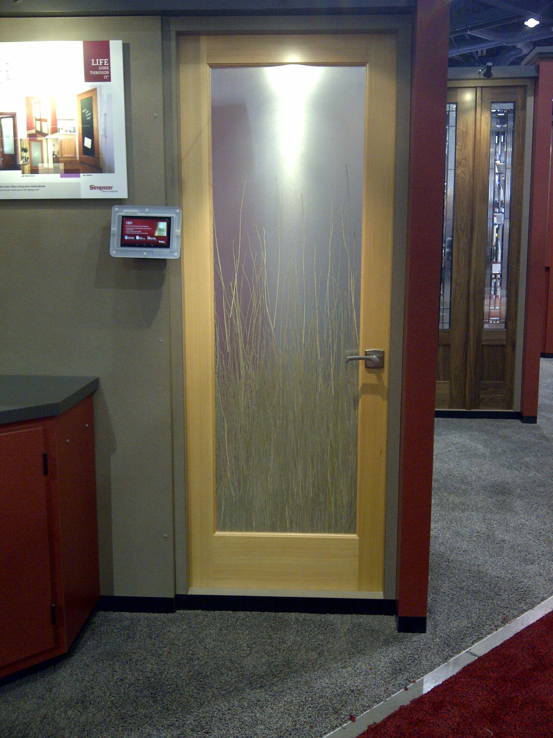 New Simpson Acrylic Panel Door 1501 with Bear Grass