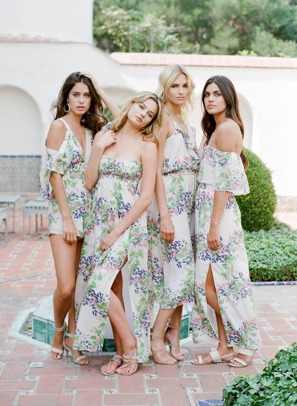 Bridesmaid Gifts Printed Bridal Robes Rompers Via Plum Pretty Sugar Http
