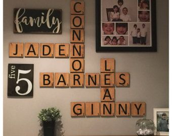 Image Result For Crossword Names On Wall Scrabble Tiles Diy Large Scrabble Tiles Scrabble Tiles Wall