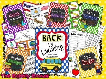 Back to Learning-  5 Literacy Centers for Back to School Time
