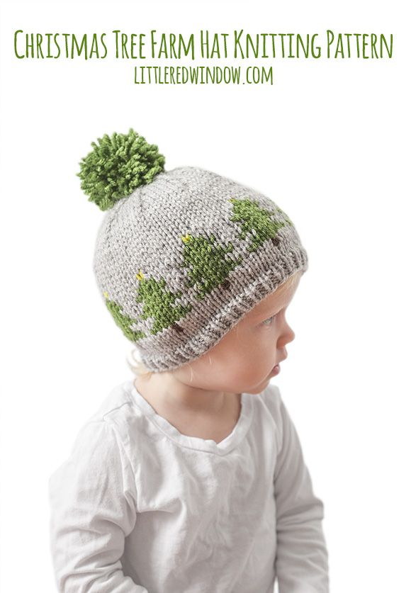 Fair Isle Christmas Tree Farm Hat Knitting Pattern | Christmas ...