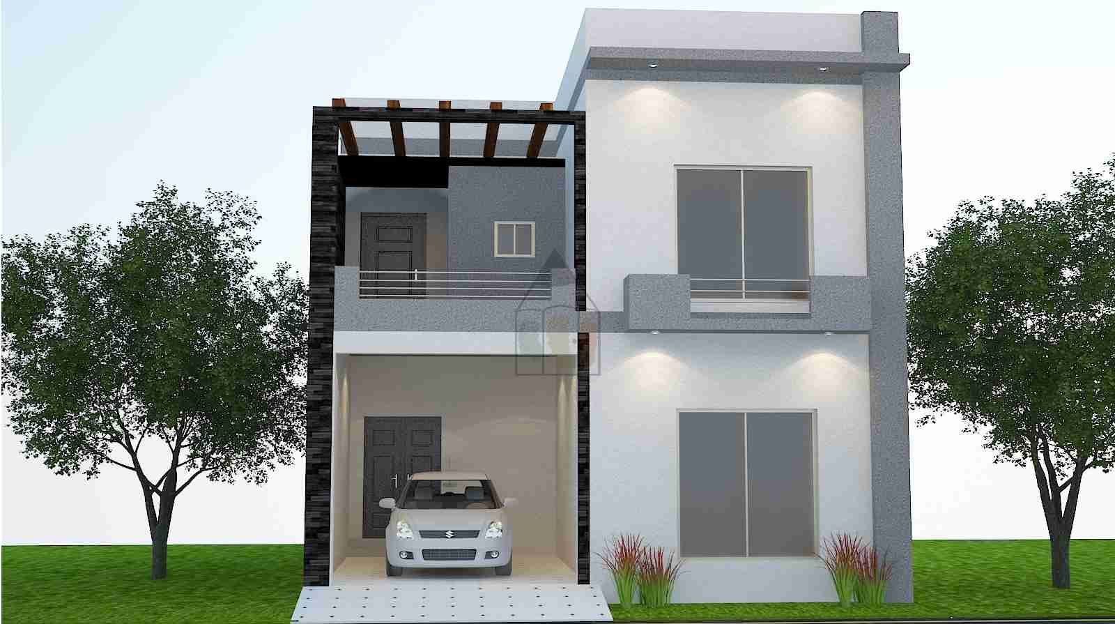 Small House Front Elevation In Raipur : Marla house floor plan front elevation