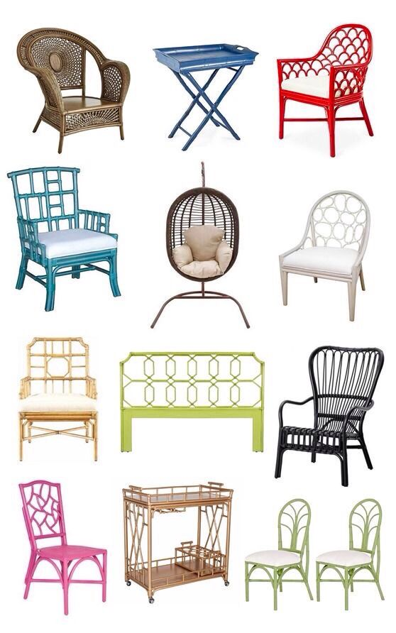 Painted rattan & wicker....yes!!