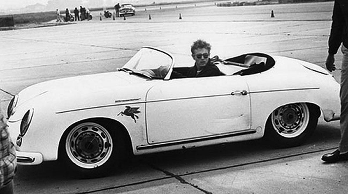 classic celebrity car coolness james dean 1955. Black Bedroom Furniture Sets. Home Design Ideas