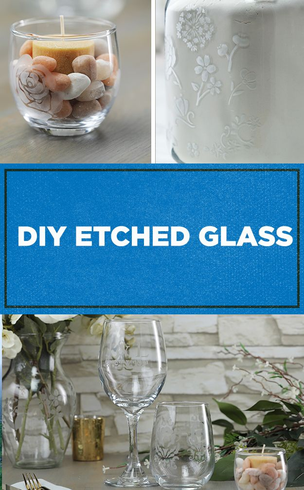Diy Etched Glass With Etching Cream Diy Wine Glass Glass Crafts Fun Crafts