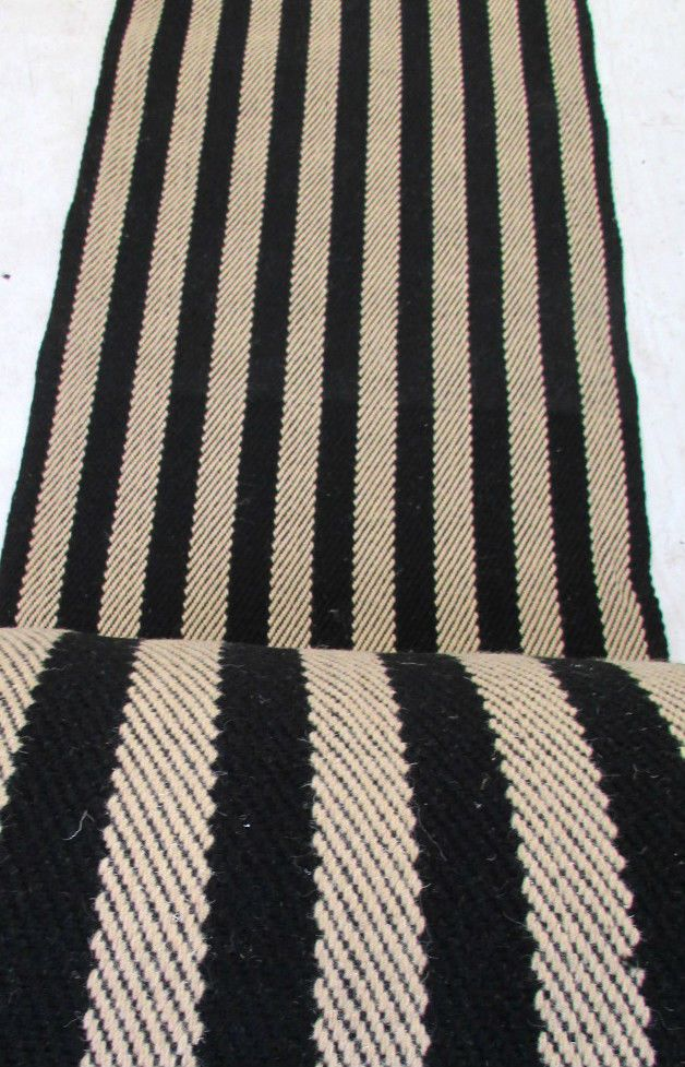 Best Flatweave Runner 100 Wool Black Stripes Price Per Metre 400 x 300