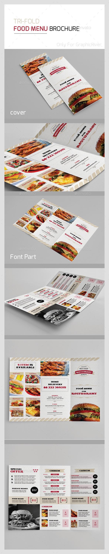 Trifold Food Menu Template InDesign INDD #design Download: http ...