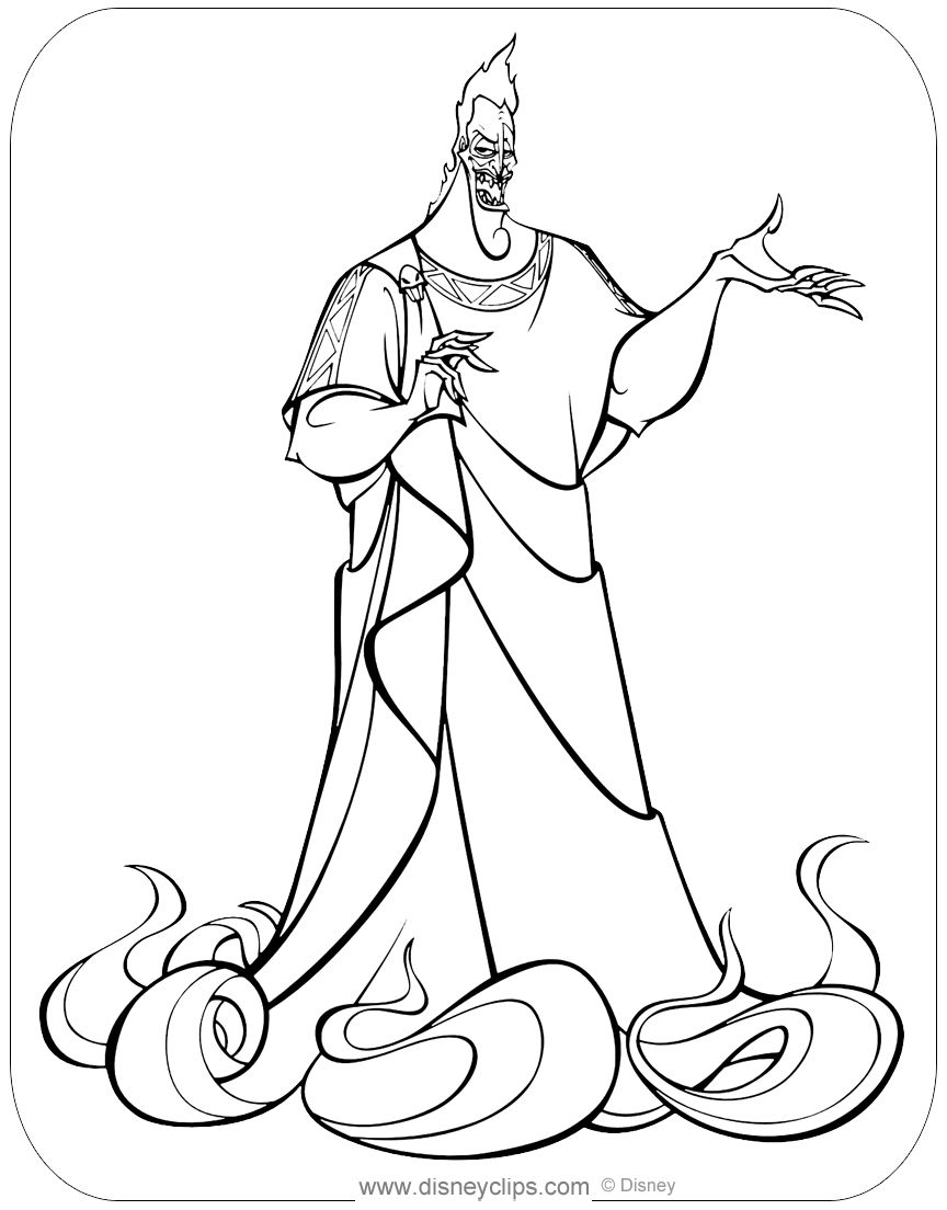 Disney Hades Coloring Page Disney Coloring Pages Easy Drawings