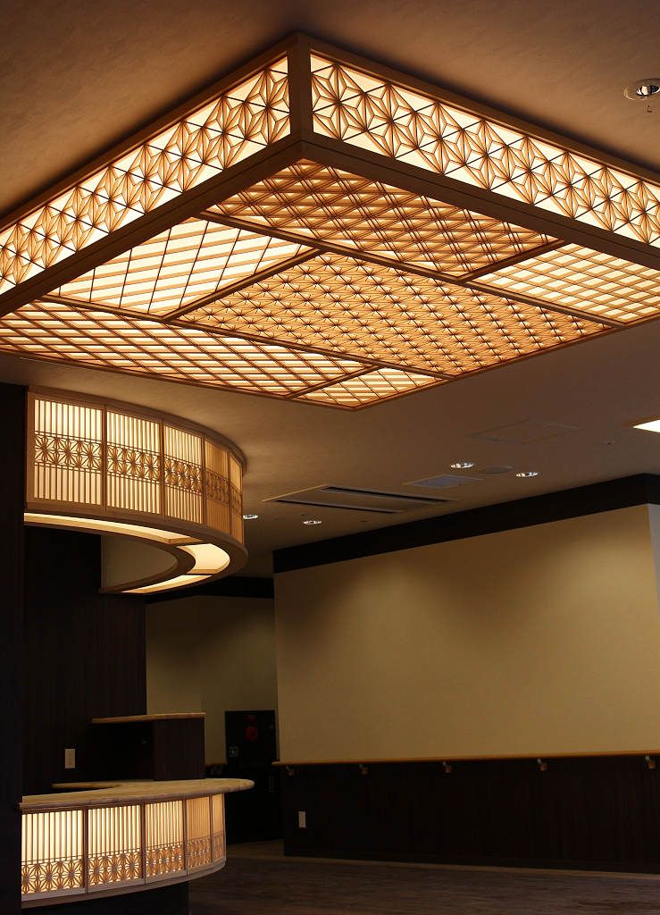 Kumiko Zaiku Von Yoshihara Woodworks Ceiling Design False