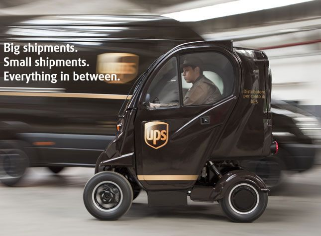 UPS Advisorfreight   UPS   Little truck, Electric cars
