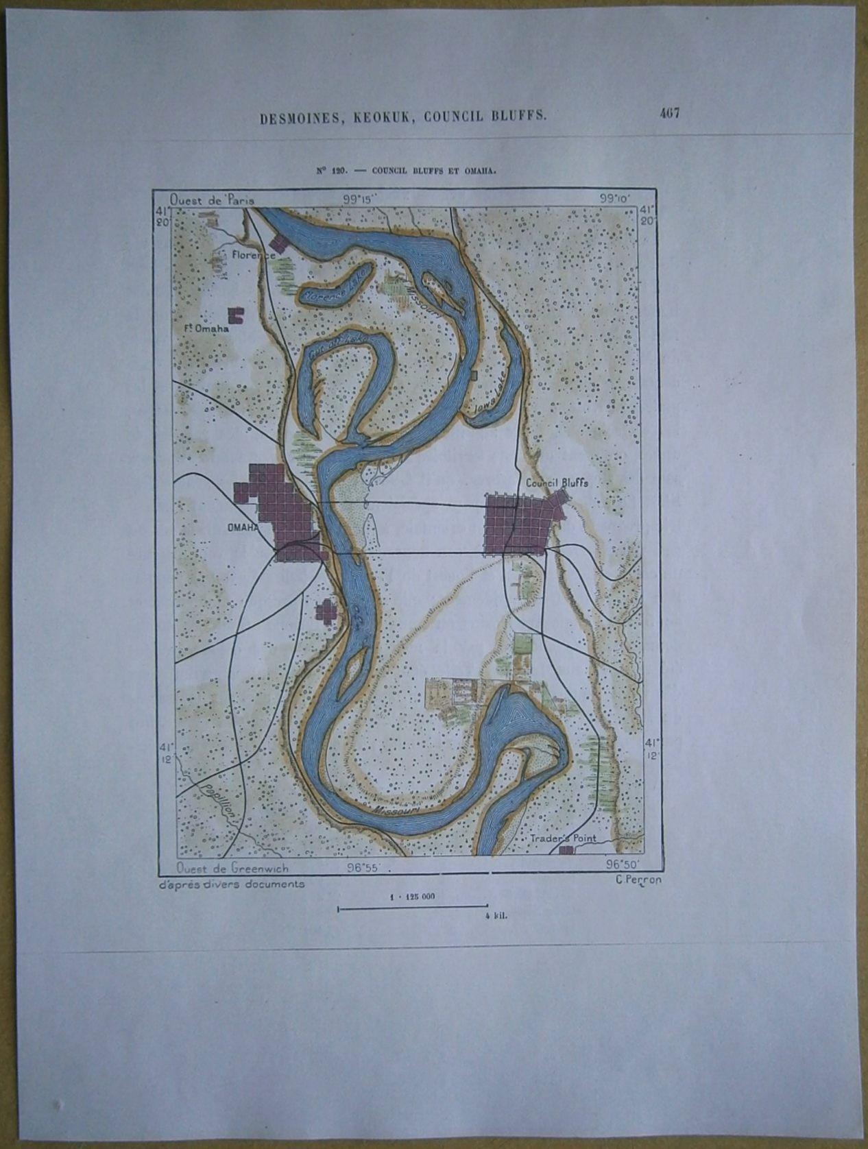 Map Council Bluffs IA And Omaha NE Antique Maps S - Ne maps