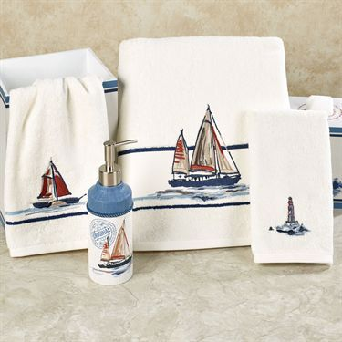 Voyage Embroidered Nautical Bath Towel Set By J Queen New York