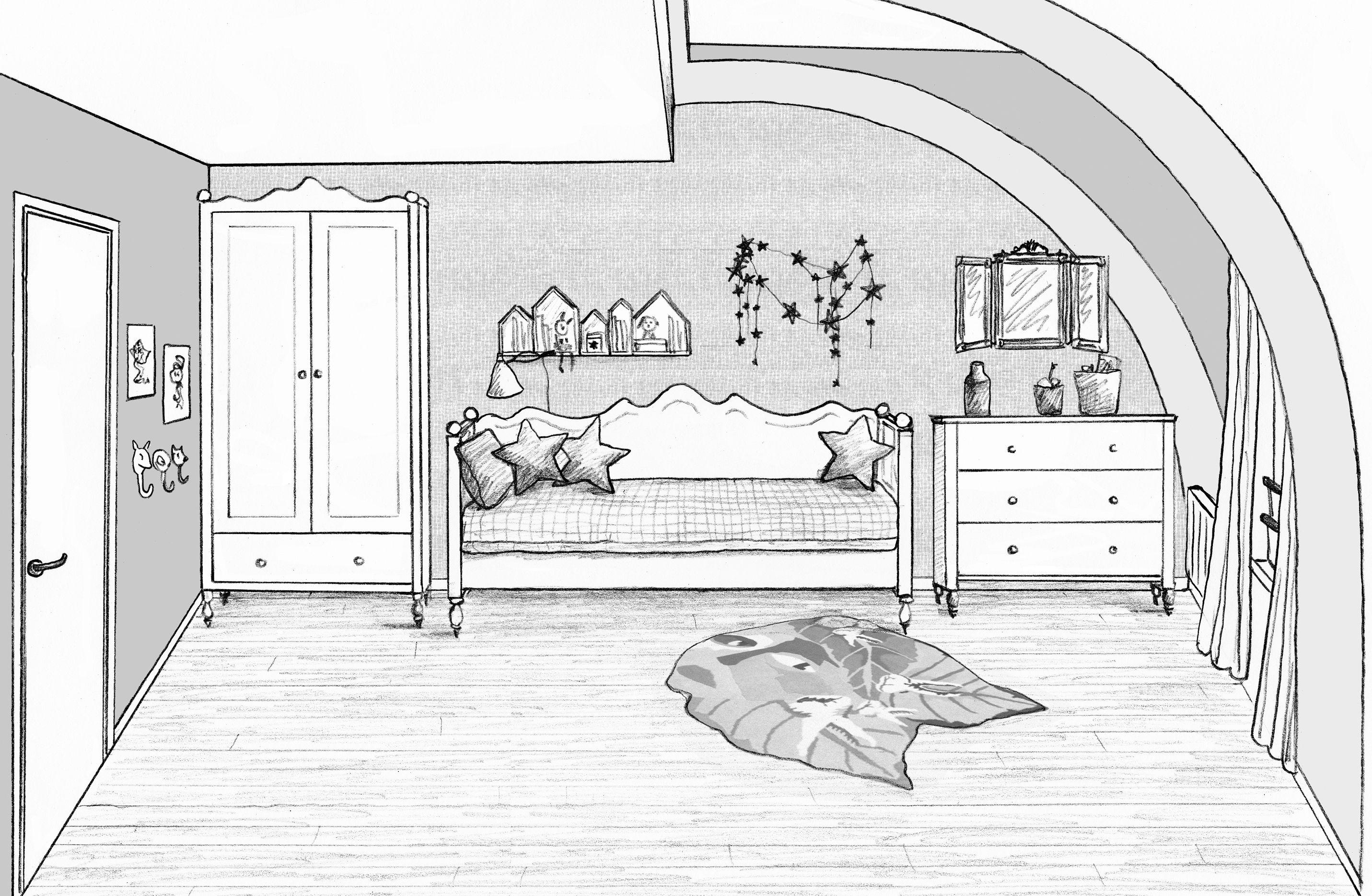 Chambre File La Reine Des Neige Maison Dessin Dessin Architecture Interieur Dessin D Architecture
