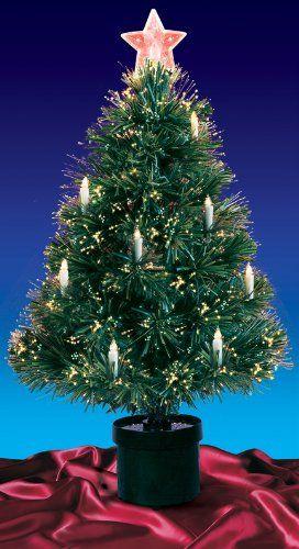 49 99 64 99 3 Pre Lit Fiber Optic Artificial Christmas Tree With Candles Multi Lights Fiber Optic Christmas Tree Artificial Christmas Tree Christmas Tree