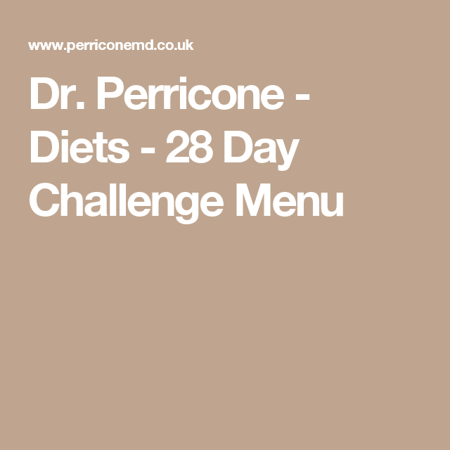 dr perricone 28 day diet menu