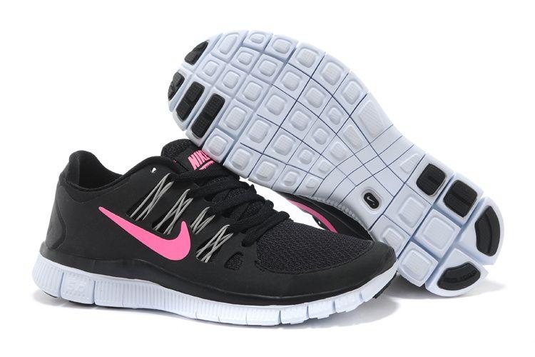 1d787e03b8b41 Black Pink Foil Nike Free 5.0 Women s Running Shoes