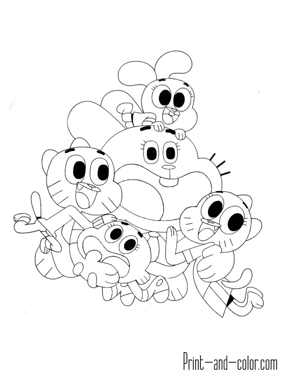 Pin By Deriri Hrieir El On Coloring Pages Birthday Coloring Pages The Amazing World Of Gumball World Of Gumball