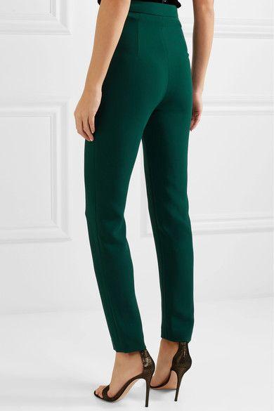 Stretch-crepe Skinny Pants - Emerald Brandon Maxwell BQTrj