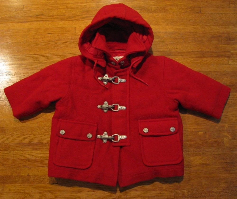 413a5fc9e261 The Children s Place Size 12 Months Girl s Red Wool Hooded Winter ...