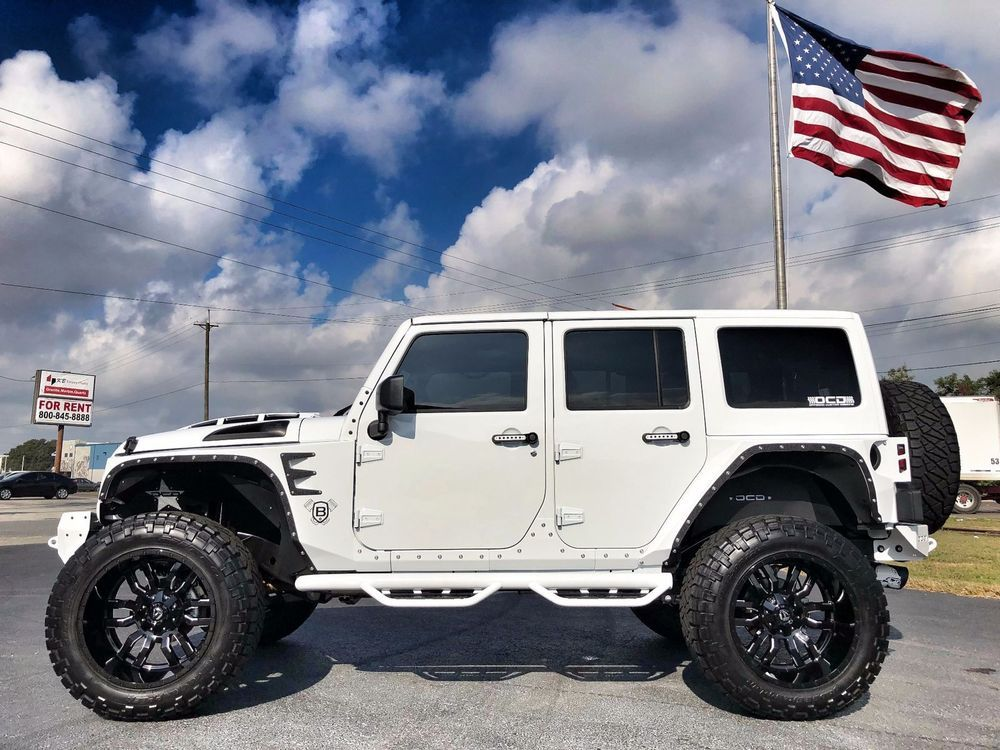 eBay 2017 Jeep Wrangler RUBICON LIFTED LEATHER HARDTOP