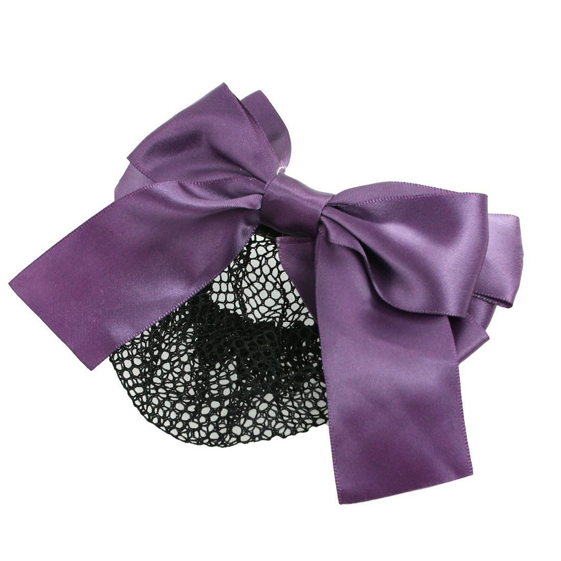 Toogoor purple polyester bowknot barrette hair clip snood net for