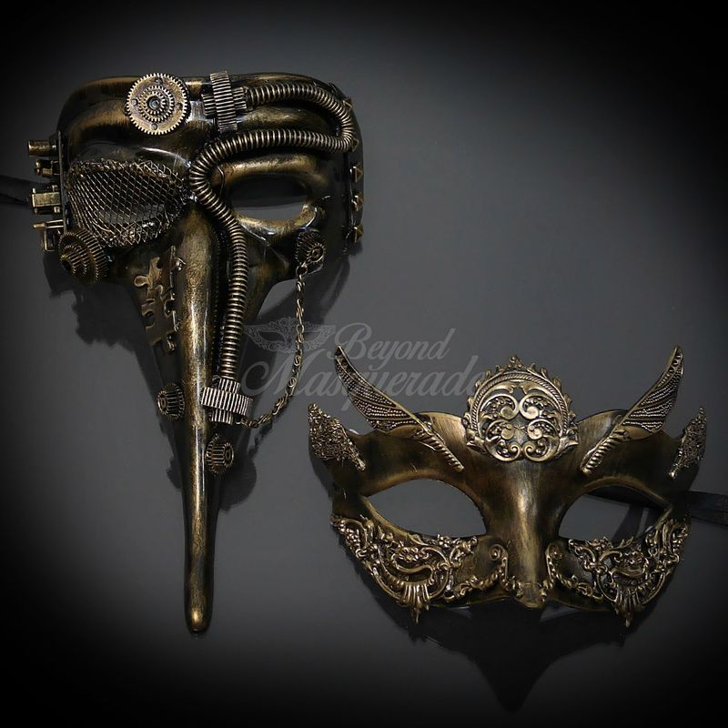 Silver Men/'s 2017 Steampunk Costume Classic Halloween Masquerade Ball Eye Mask