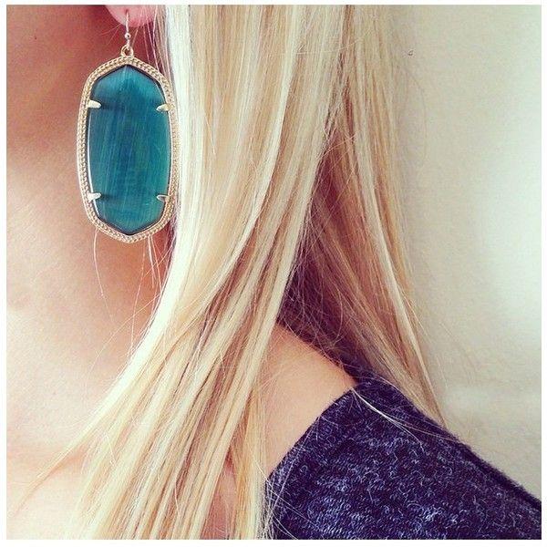 d617e745a Danielle Earrings in Emerald Cat's Eye - Kendra Scott Jewelry ($60) ❤ liked  on Polyvore featuring jewelry, earrings, emerald earrings, emerald jewelry,  ...
