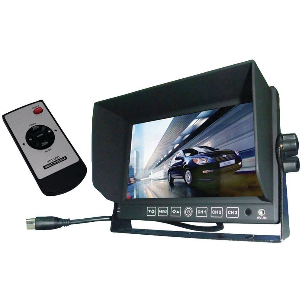 Boyo Vtm7012 7 Rearview Monitor Tft Lcd Color 3 Video Wiring Inputs