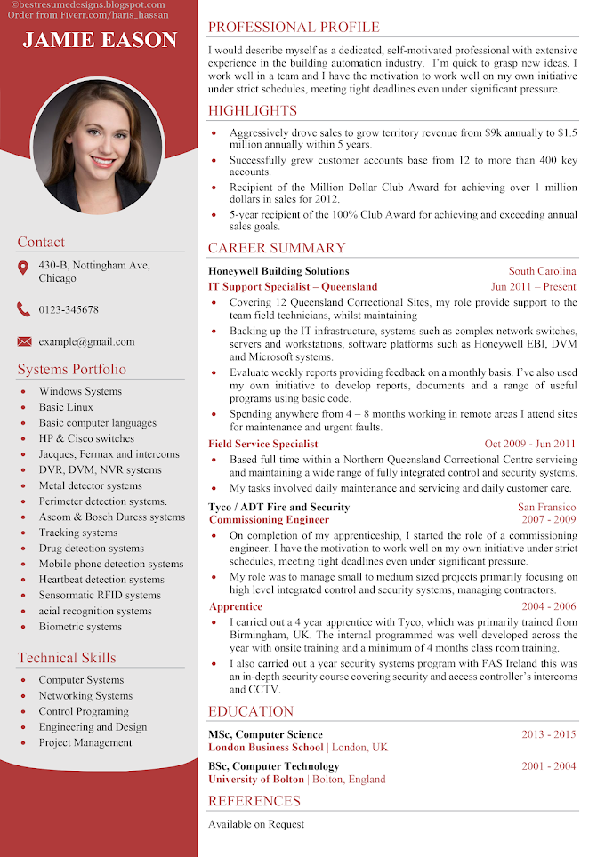 Professional Resume Design Word Template Resume Design Professional Resume Design Resume Design Creative