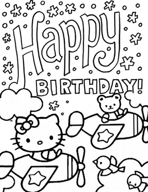 Hello Kitty Happy Birthday Coloring Pages Hello Kitty Colouring Pages Birthday Coloring Pages Happy Birthday Coloring Pages
