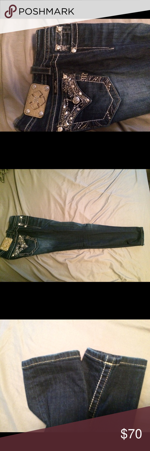 Size 27 ankle skinny miss me Lightly used miss me ankle skinny. 29inch (short) inseam Miss Me Jeans Ankle & Cropped