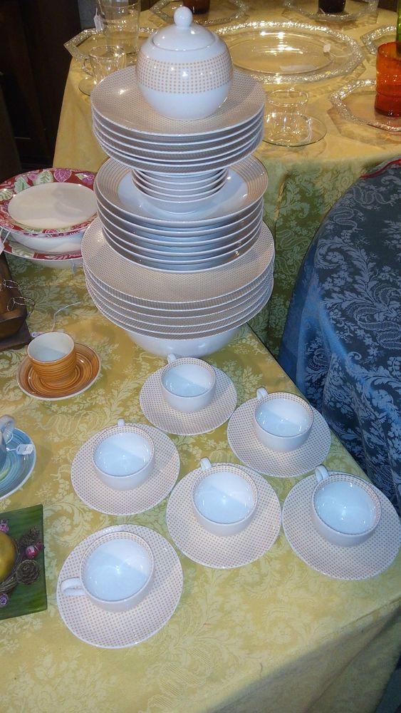 Servizio piatti porcellana millepois arancione taz servizi vari piatti tazzine bicchieri - Servizio piatti design ...