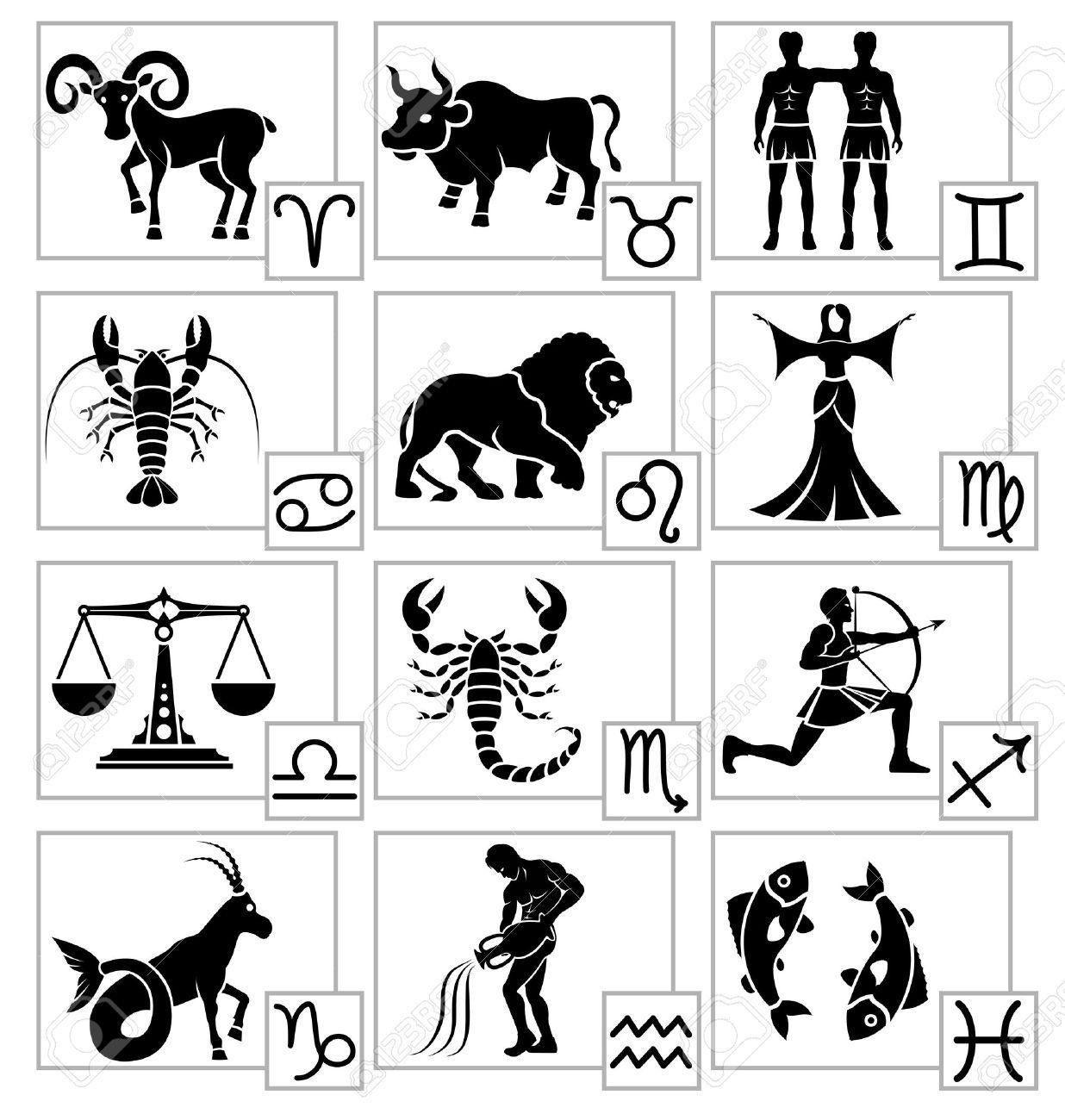 Знаки зодиака картинки символы распечатать