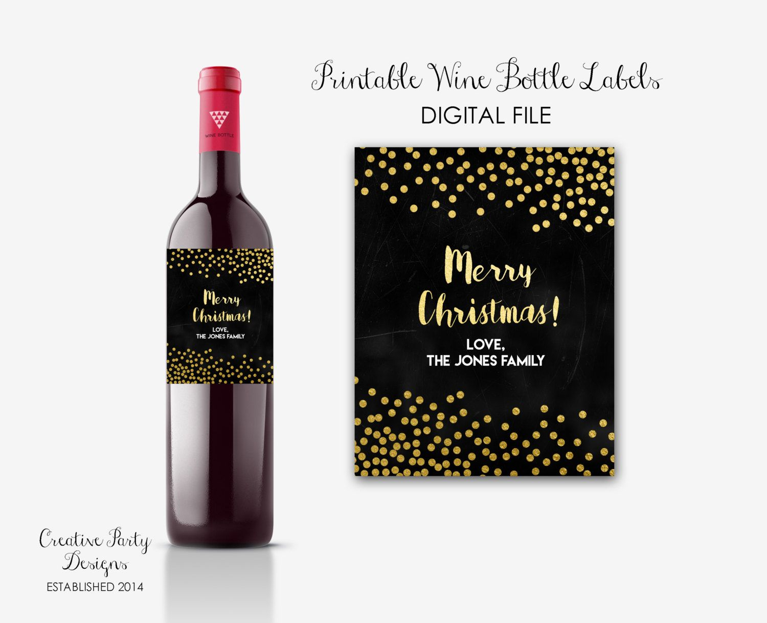 image about Printable Wine Labels referred to as Trip Printable Wine Labels - Coworker Reward - Xmas