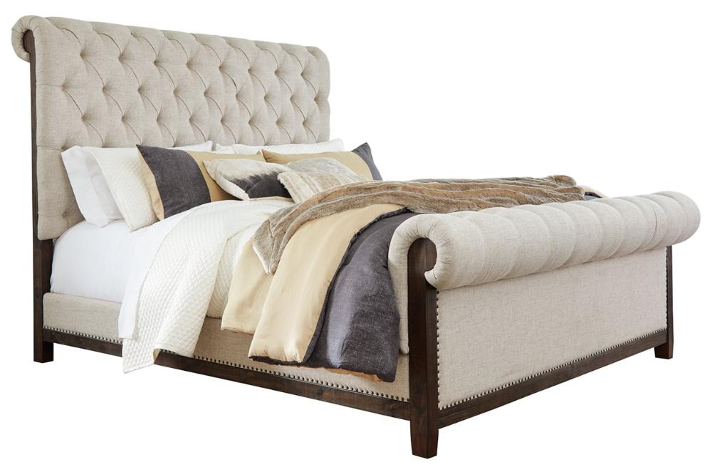 Hillcott King Upholstered Bed Ashley Furniture Homestore In 2020 Queen Upholstered Bed Upholstered Beds Upholster