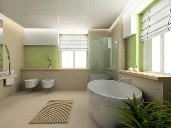 frisches Design mit grünen Motiven im Badezimmer | Bad und Toilette ...