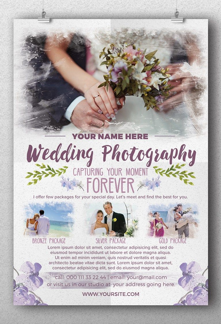 Wedding Photography Flyer Template | FREEBIES ROOM | Pinterest ...