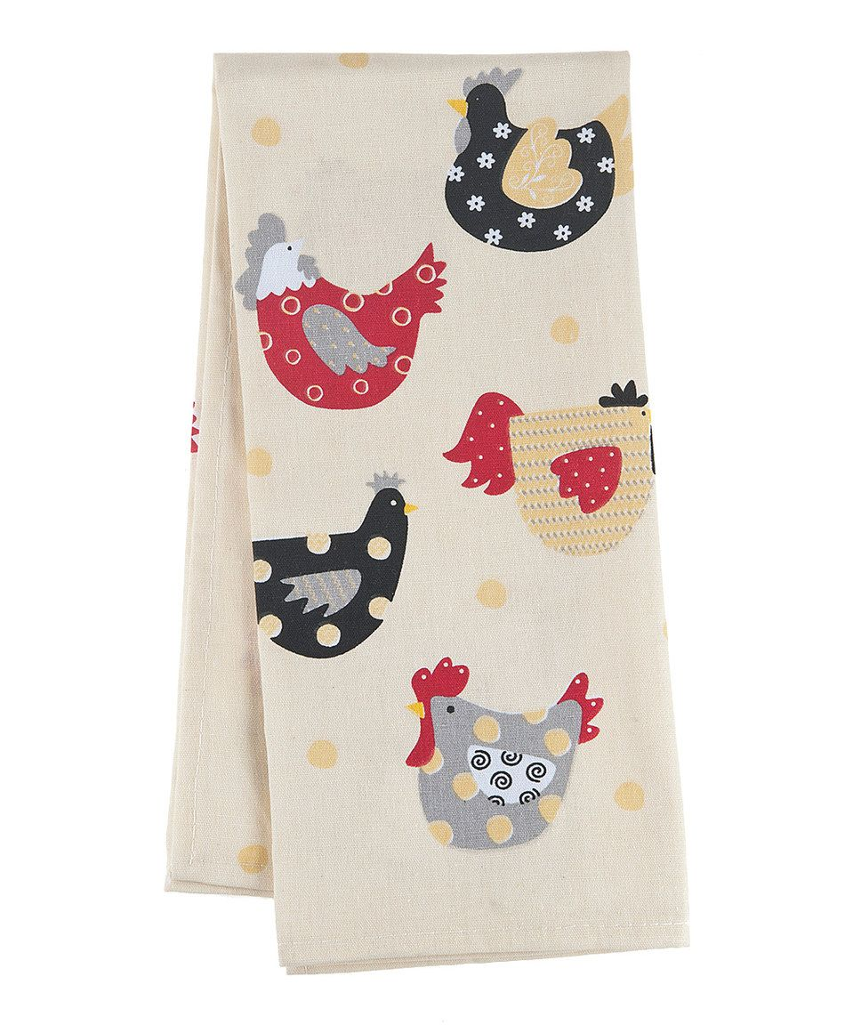 Another great find on #zulily! Happy Hens Linen-Blend Dish Towel by GANZ #zulilyfinds
