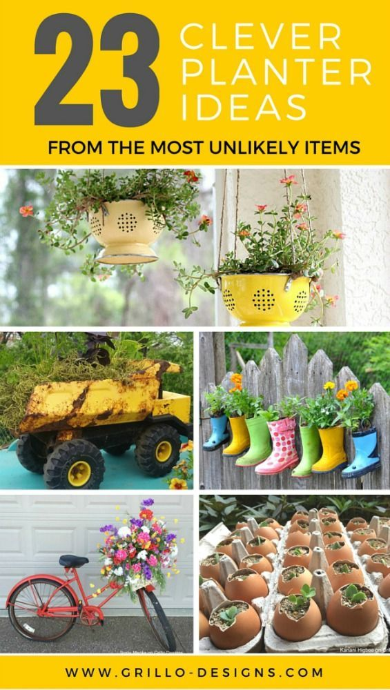 23 Repurposed Planter Ideas For Your Home & Garden | Planters ...
