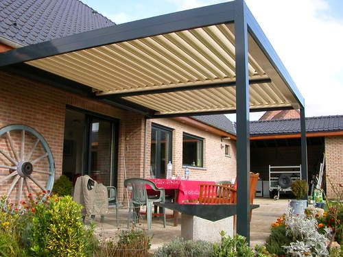 Pergola bioclimatique   Maisons architecture passive   Pinterest ...
