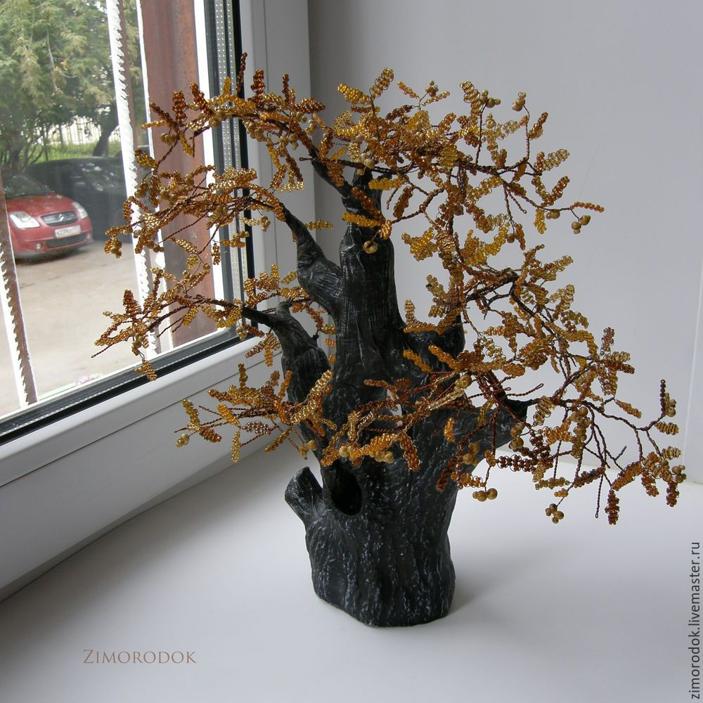 Мастер-класс смотреть онлайн: Осенний дуб. Создаем дерево ...