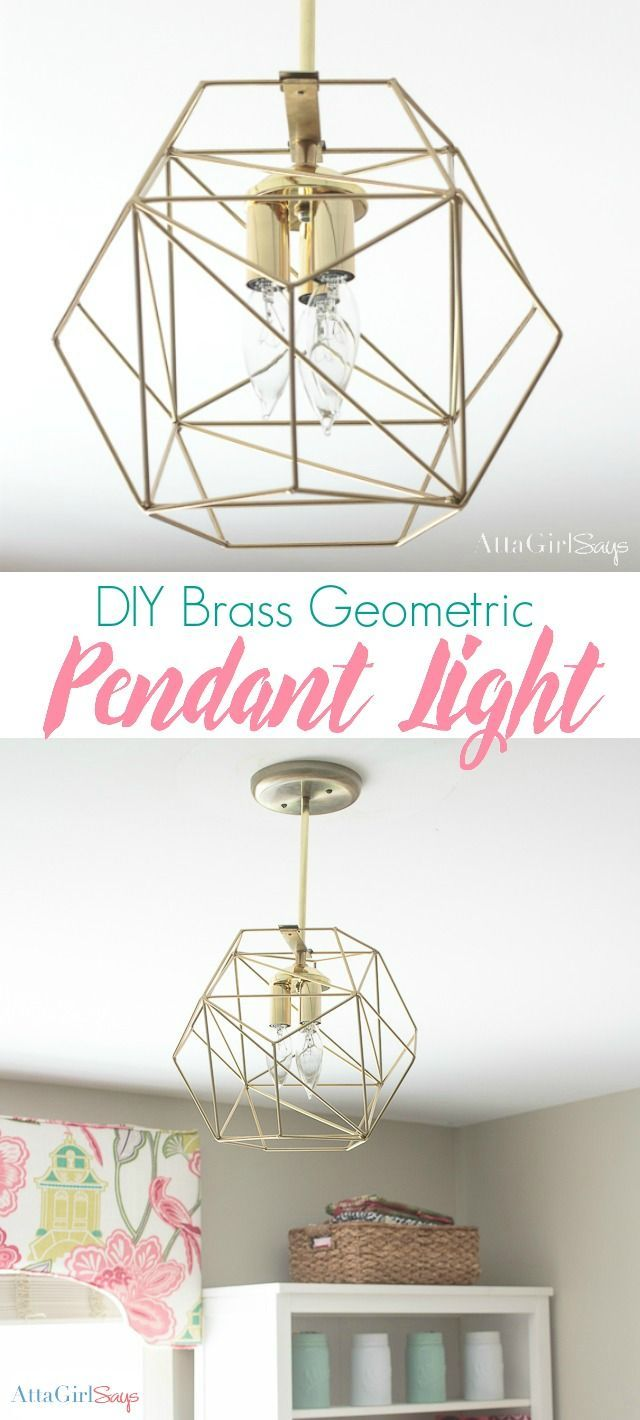Inexpensive DIY Brass Geometric Globe Pendant Light | Diy ...