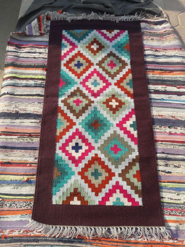 كليم يدوى سجاد عربى نبيتى فى الوان هاند ميد من الصوف Bohemian Rug Mosaic Mosaic Art