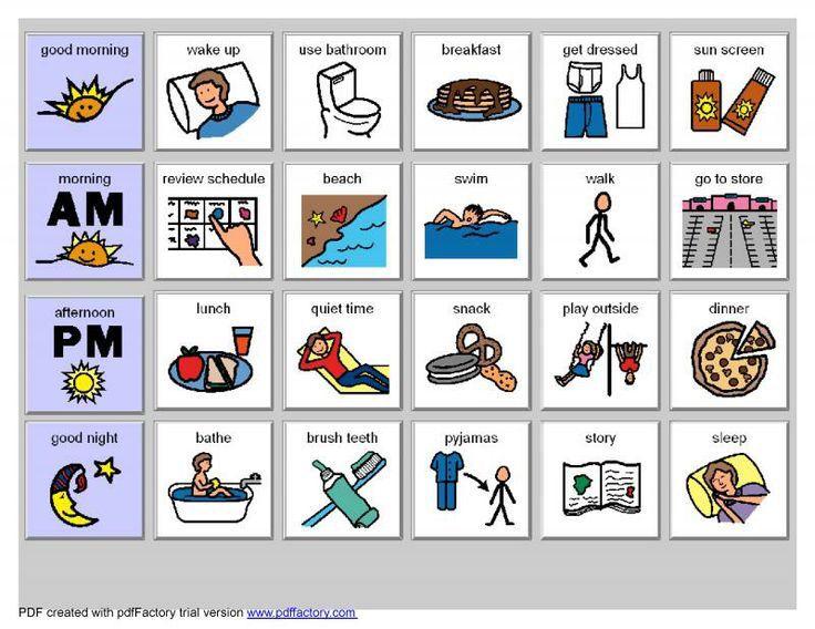 Visual Schedule Special Needs Kids Visual Schedule Autism Autism Visuals