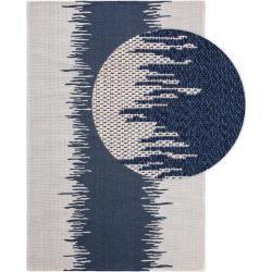 Photo of benuta Naturals Waschbarer Baumwollteppich Cooper Blau 75×150 cm – Moderner Teppich für Wohnzimmerbe