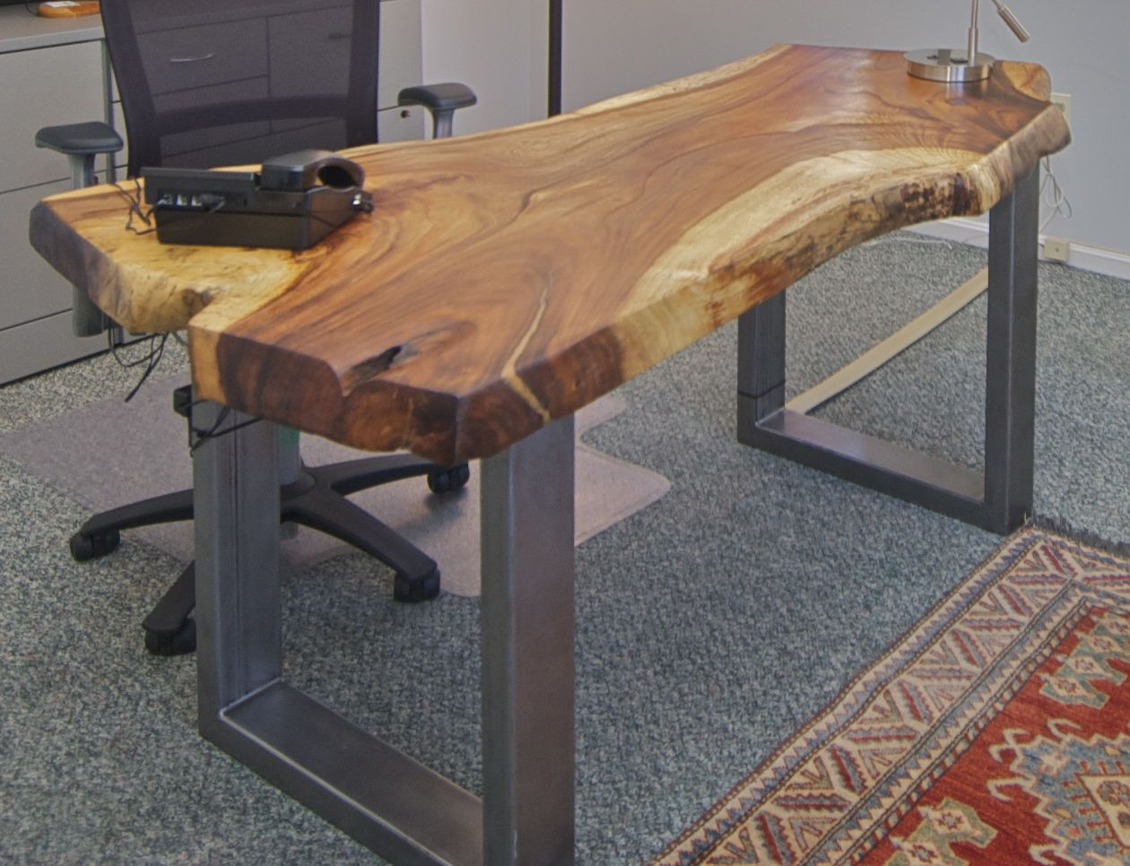Pretty Inspirational Recent Project Office With Live Edge Desk