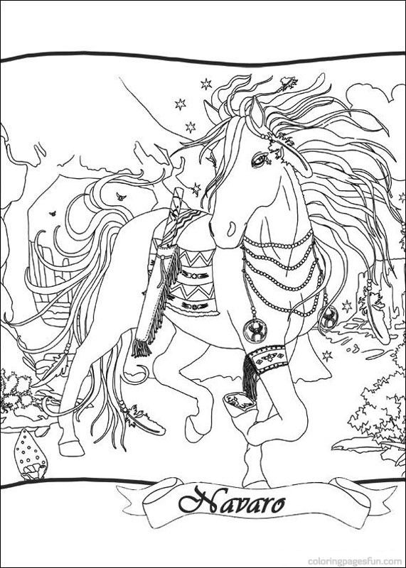 Bella Sara The Magical Horse Coloring Pages 1 Horse Coloring Pages