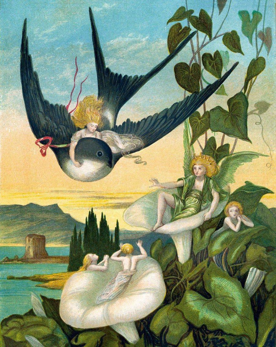 thumbelina illustration by british artist eleanor vere