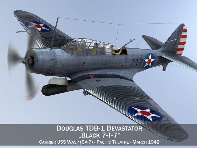 Douglas TDB-1 Devastator - 7T7 3D Model .max .c4d .obj .3ds .fbx .lwo .stl @3DExport.com by Panaristi