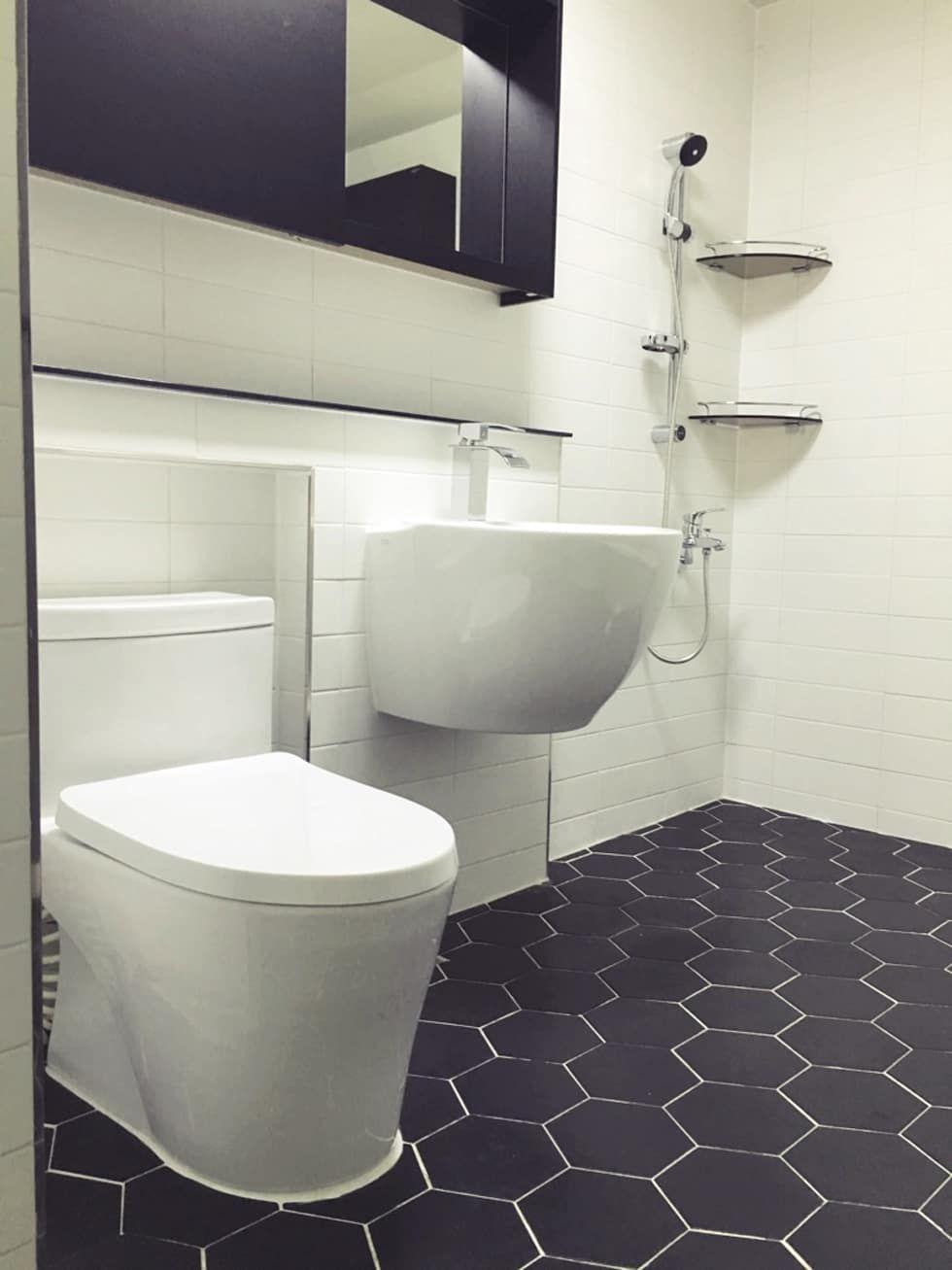 인테리어 디자인 아이디어, 내부 개조 & 리모델링 사진  화장실